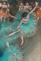 Fotografía © Edgar Degas. Bailarinas en el escenario, 1880